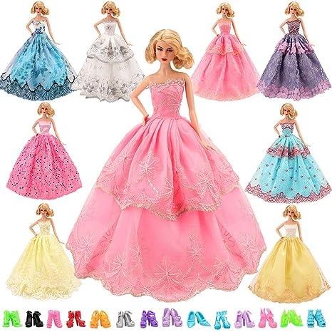Miunana 16 Articoli Per Bambola Barbie Dolls   6 PCS Moda Premium Fatto a  Mano Morbido cf934da23f9