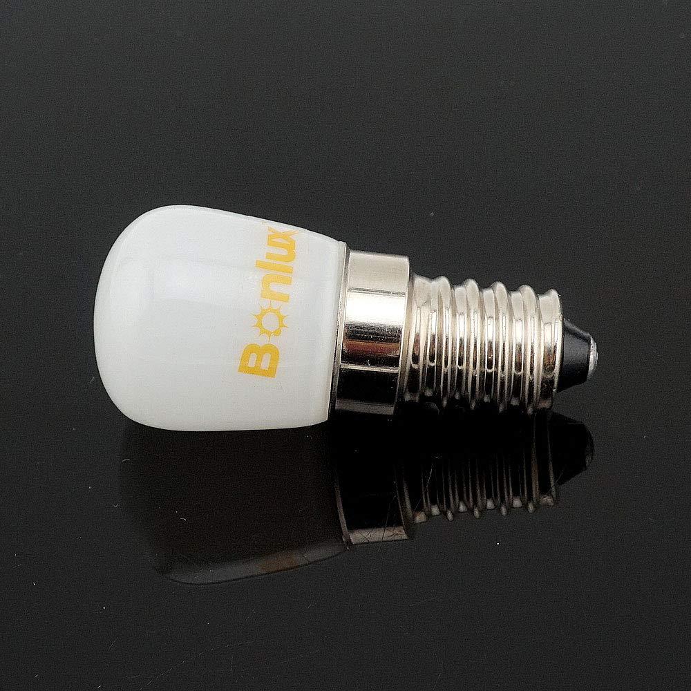 Bonlux E14 1.5W Bombilla LED para la Iluminación de Máquina de Coser, El Refrigerador con 120 Lúmenes, Reemplazo de 15W(Luz Cálida 2800K)