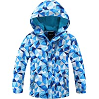 Chaqueta Invierno Impermeable Abrigo de Esquí con Capucha de Lluvia Snowboard Nieve Senderismo Manga Larga para Niños…