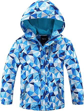 Chaqueta Invierno Impermeable Abrigo de Esquí con Capucha de Lluvia Snowboard Nieve Senderismo Manga Larga para Niños Niñas Bebés