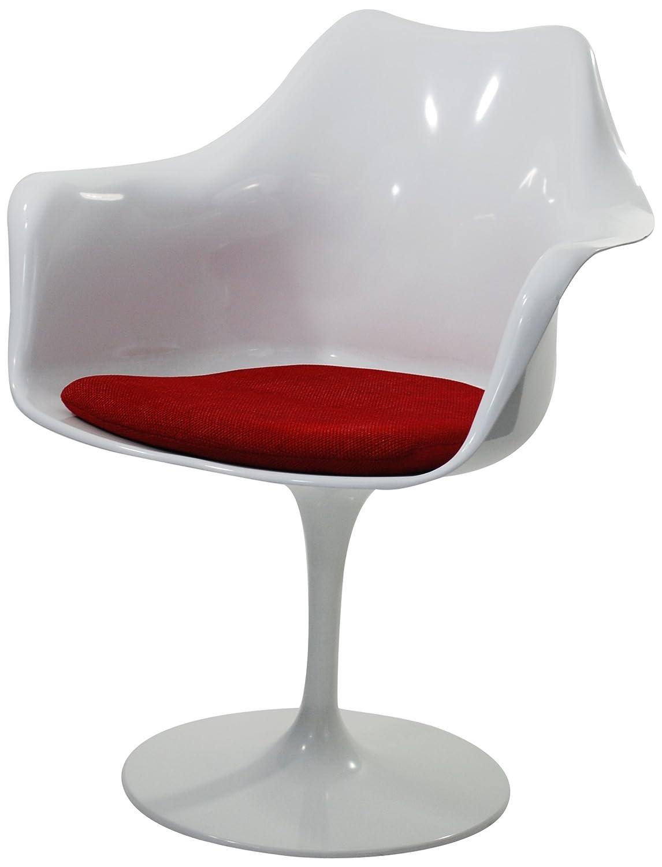 amazoncom  fine mod flower arm chair white  chairs -