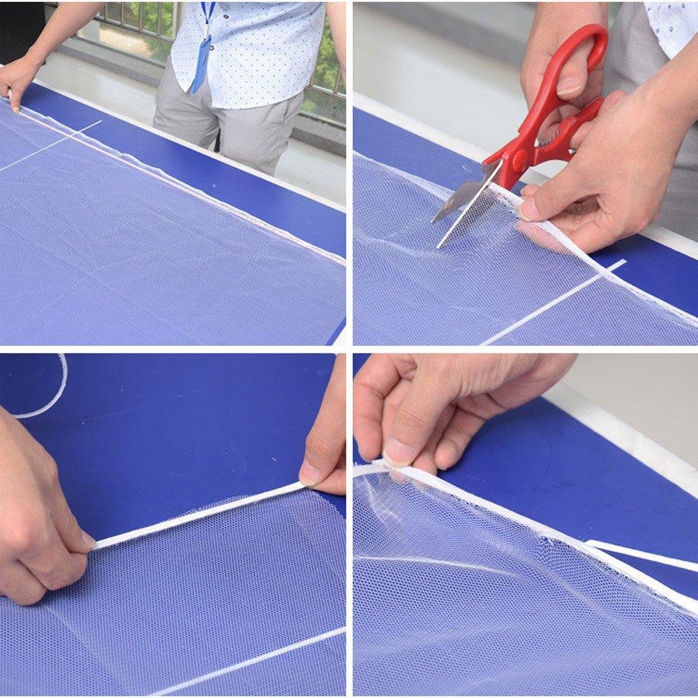 White zycShang Insecte Fen/être Filet Tissu Anti-moustique Avec Ruban Adh/ésif 130cm x 150cm