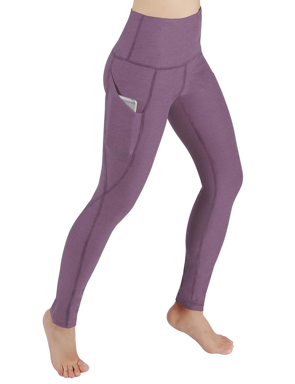 YogaPocketPants715Lavender XXLarge ODODOS Power Flex Yoga Capris Pants Tummy Control Workout Running 4 Way Stretch Yoga