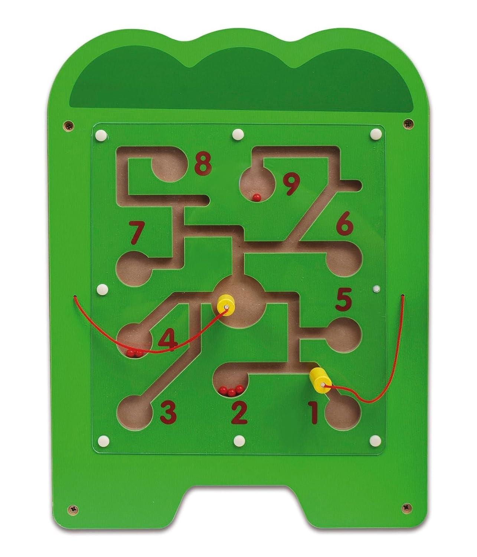 unterschiedliche Spielelemente Motorik Kleinkinder inkl 5-teilig Koordination Montagematerial Krokodil-Wandspiel