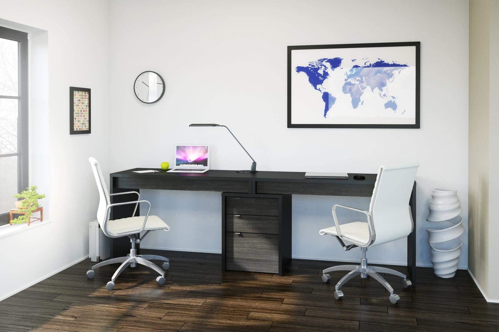 Sereni-T 3 Piece Home Office Set Black and Ebony by Nexera