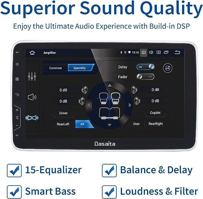Dasaita 10 2 Andoid 9 0 Autoradio Mit Bluetooth Elektronik