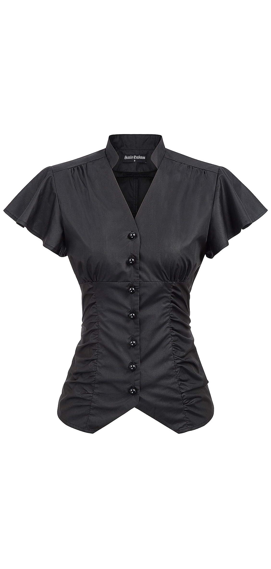 Women's Victorian Blouse Shirt Steampunk Gothic Victorian Tops