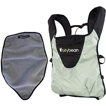 fdaae78ac28 Amazon.com   Bitybean - UltraCompact Baby Carrier with Fleece Liner - Sand  Grey   Baby