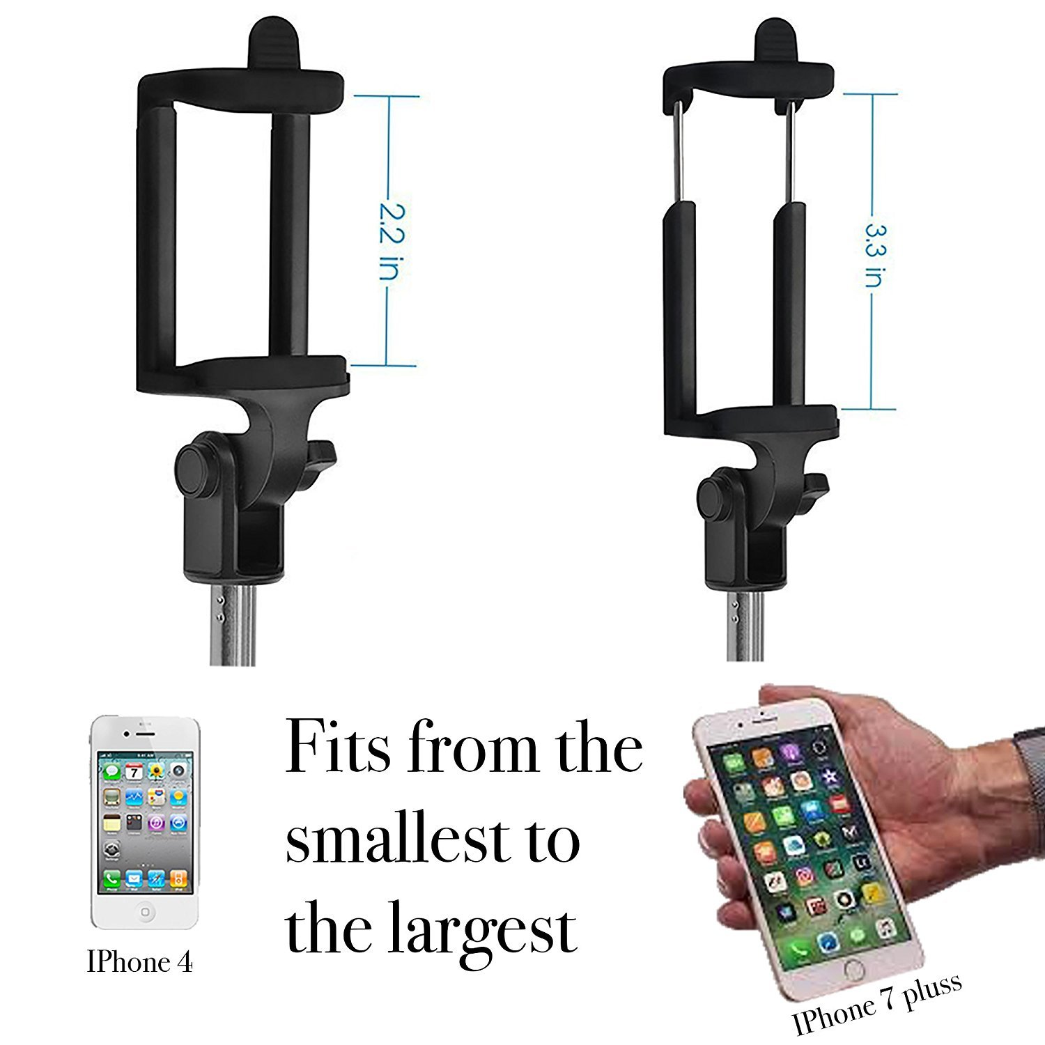 Bluetooth Selfie Stick Tripod, BOKIN wireless Selfie Stick for iPhone 6/iPhone 6 Plus/iPhone 7/iPhone 7 plus/iPhone 8/iPhone 8 plus/iPhone X and Samsung note 8/S8 and other Android Phones by BOKIN (Image #6)