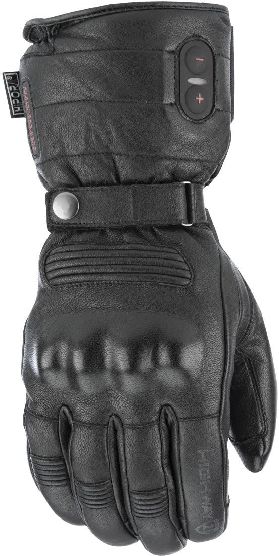 Highway 21 Radiant Heated Mens Cold Weather Motorcycle Leather Glove Waterproof Black Size XL