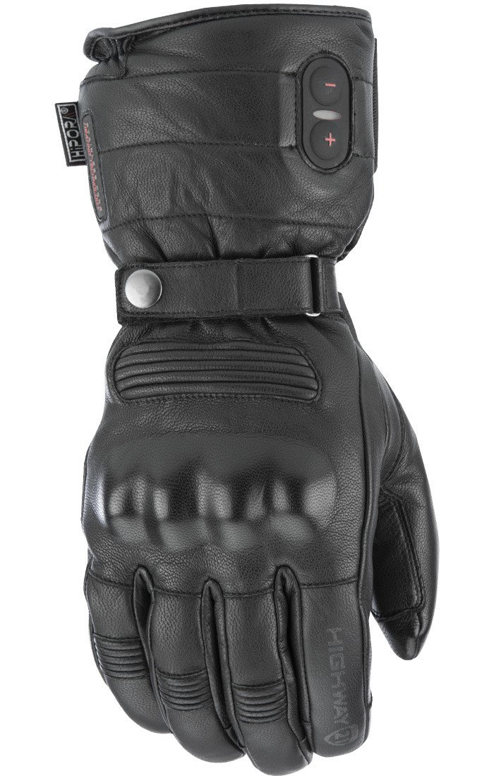 Highway 21 Radiant Heated Men's Cold Weather Motorcycle Leather Glove Waterproof Black Size 3XL