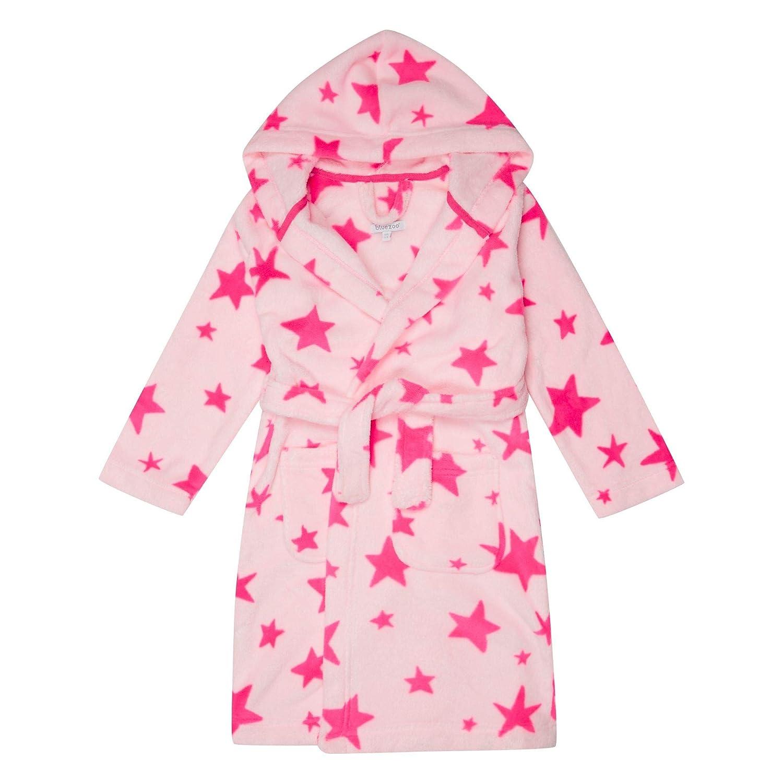 bluezoo Kids Girls' Pink Star Print Dressing Gown