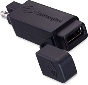 SAE to USB Adapter - Motorcycle Quick Disconnect Plug - Cell Phone Charger Works with Apple iPhone and Samsung Galaxy Cables - No Power Drain - Keeps You Connected When You Ride