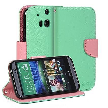 Amazon.com: GMYLE – Funda de piel sintética con para HTC One ...