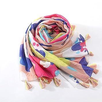a49da68230fc PowerFul-LOT Chèche Écharpe Homme Femme Marque Coton Foulard Femmes Ladies  Tassel Motif Imprimer Dentelle