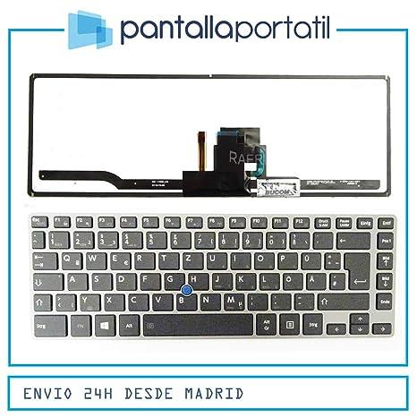 Desconocido Teclado español para Toshiba Tecra Z40T-A Series Negro [Marco Gris Oscuro]