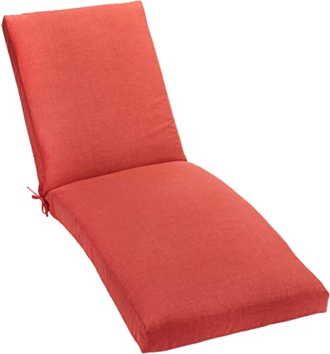 BrylaneHome 84 Chaise Cushion Patio Cushion, Geranium