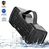 IPX5 Waterproof Bluetooth Speaker,JONTER SoundPlus Portable Bluetooth Speaker : 24W Speakers,Loud Volume,More Bass,Free Sound,Bluetooth 4.2 technology Wireless Speaker for Outside (Black)