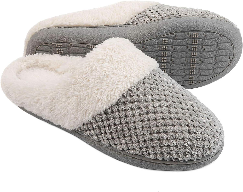 Details about  /New Women/'s Multi-Pack Cotton Comfy Fleece Soft Lightweight Indoor House Slipper