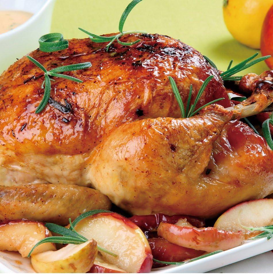Asador de pollo vertical con base antiadherente recoge salsa para ...