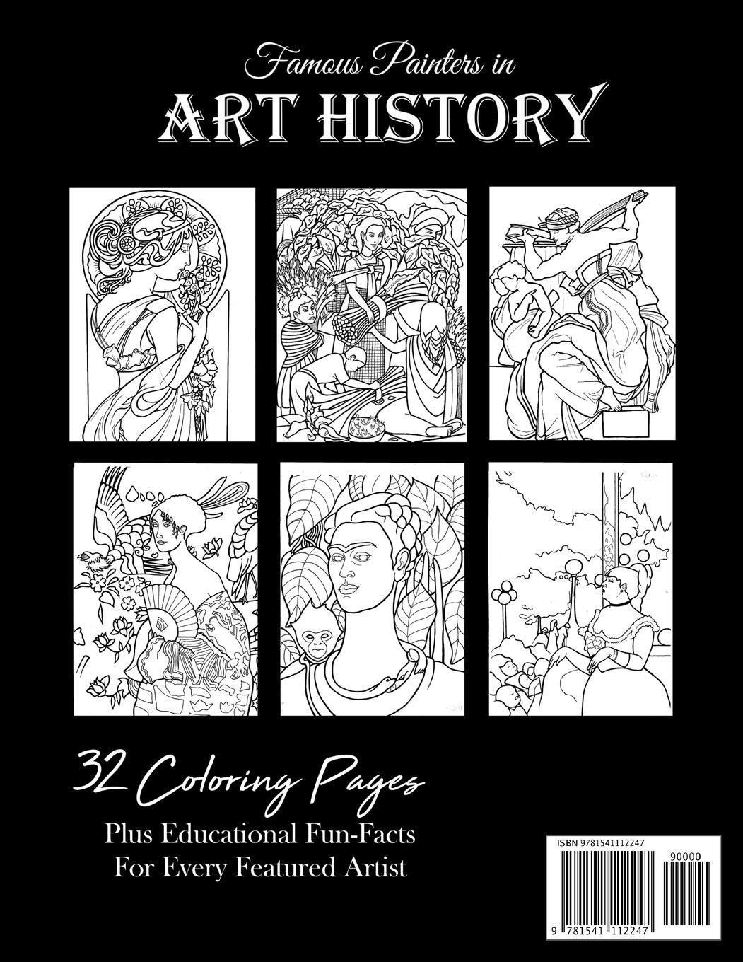 Famous Painters In Art History An Educational Coloring Book Rush Davina 9781541112247 Amazon Com Books