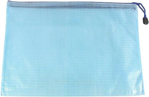 Set di 12 buste portadocumenti con cerniera formato A4 resistenti agli strappi White impermeabili Zoohot di alta qualit/à