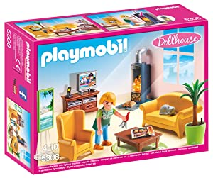 PLAYMOBIL Living Room with Fireplace