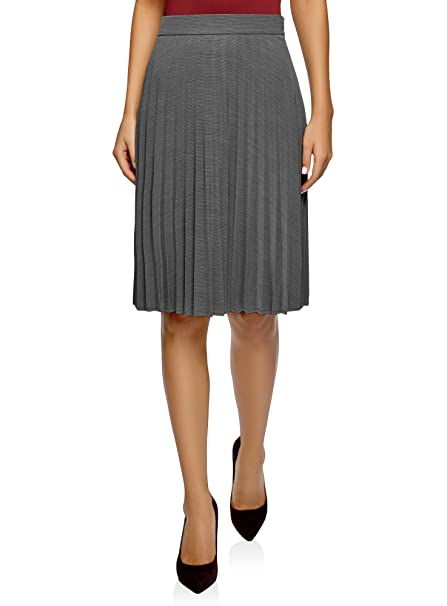 oodji Collection Mujer Falda Plisada hasta la Rodilla: Amazon.es ...