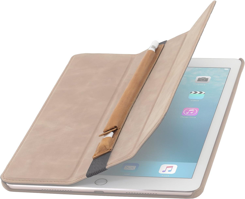 Rot 9.7//iPad Pro//iPad Pro 10.5 mit Lightning-Adapter-Fach StilGut Leder-Pencil-Halter geeignet f/ür Apple Pencil f/ür iPad 2018