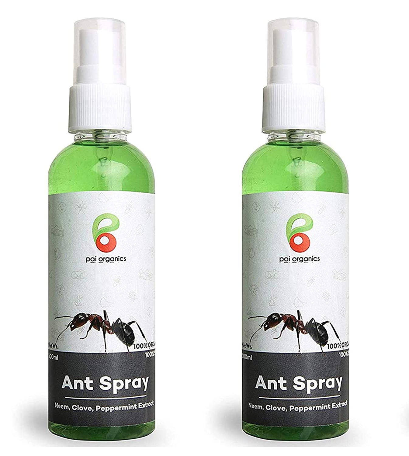 Pai Organics Natural Ant Killer Ant Spray Ant Repellent 100 Organic And Safe Pack Of 2 Amazon In Garden Outdoors