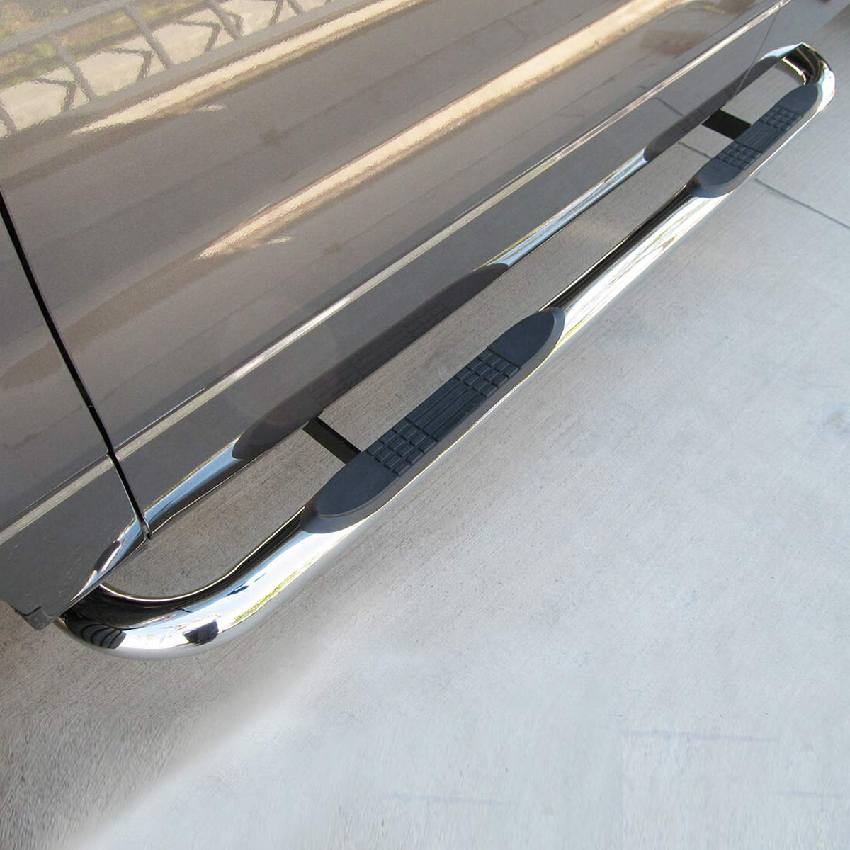 TRIL GEAR for 97-03 F150//F250 04 F150 Heritage Super Extended Cab Chrome 3 Side Step Nerf Bars Running Boards