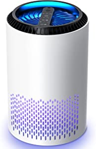 Kloudi HEPA Air Purifier Air Filter with Air Pretreatment System Air Cleaner Eliminate Smoke, Dust, Pollen, Dander Air Purifiers for Home, Bedroom, Living Room, Kitchen and Office