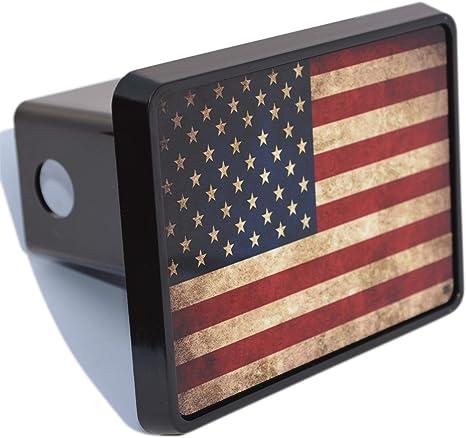 Rogue River Tactical USA Gadsden Flag Trailer Hitch Cover Plug US Patriotic Vintage Dont Tread on Me