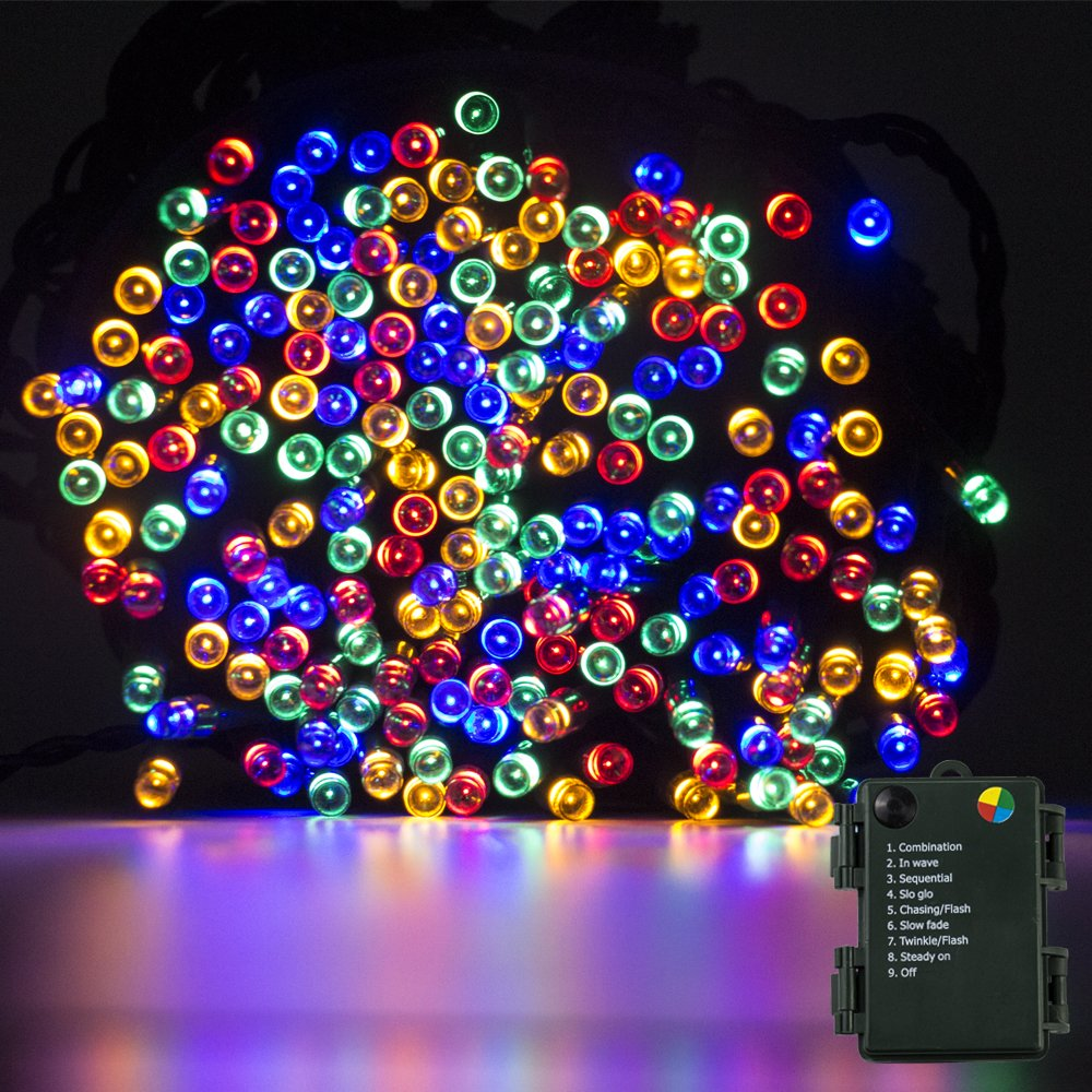 Luces de la secuencia funciona con pilas luces de hadas del LED