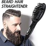 Beard Straightener Brush for Men - 2019 Quick Beard Styler Comb Ionic ElectricBeard Straightening Heat Brush For Home & Travel