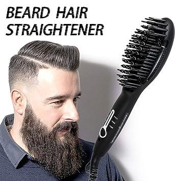 6bb953fa79ff Beard Straightener Brush for Men - 2019 Quick Beard Styler Comb Ionic  Electric Beard Straightening Heat...