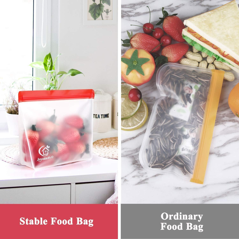 Senza BPA Frutta Cereali 8 Pezzi 8 Pezzi Confezione panino Sacchetti per Freezer a Tenuta stagna joyoldelf Sacchetti Riutilizzabili per Alimenti per marinare Extra Spessi