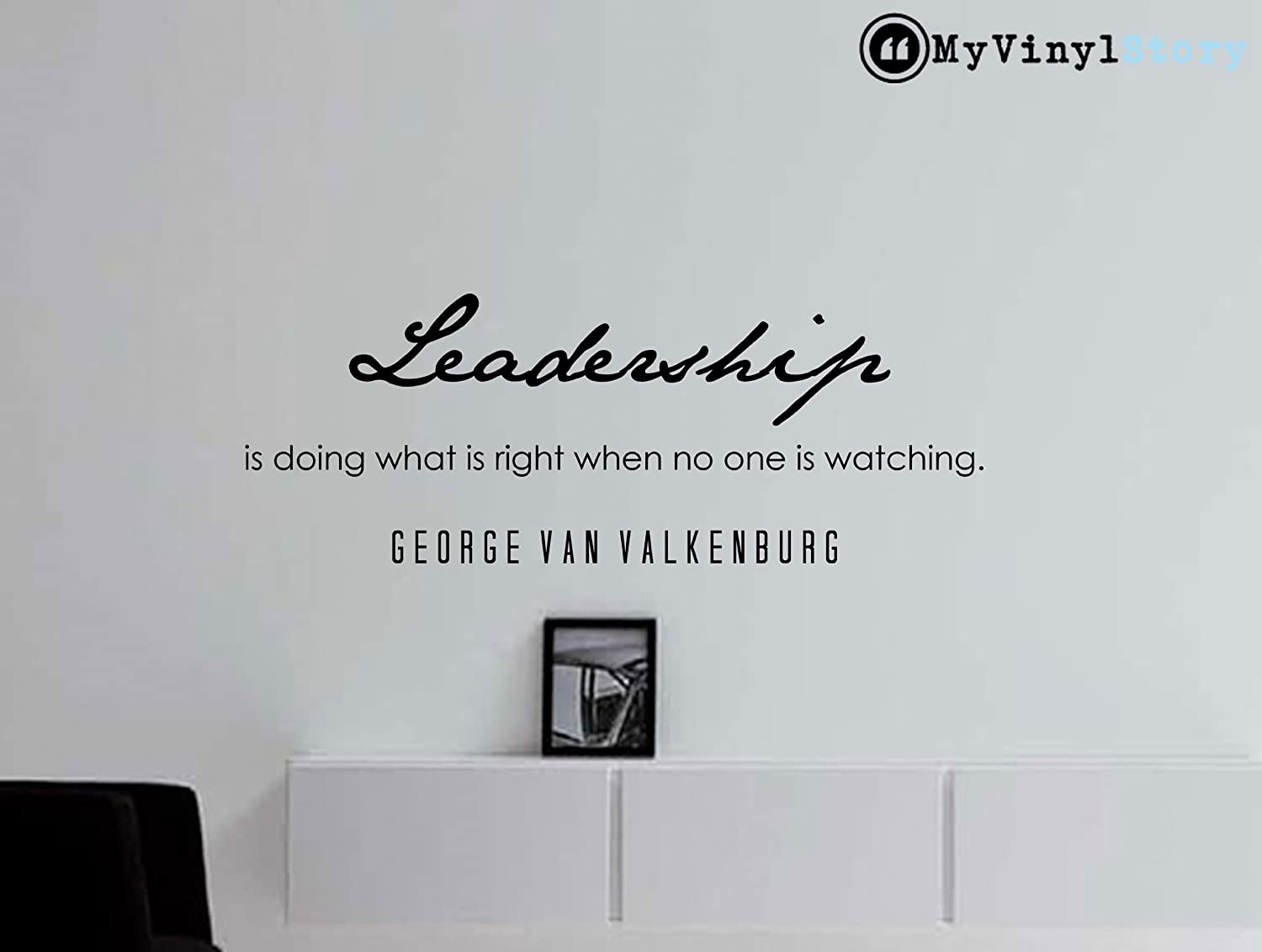 Amazon george van valkenburg inspirational business quote amazon george van valkenburg inspirational business quote wall decal leadership 36x13 inches home kitchen amipublicfo Image collections