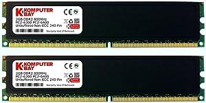 Komputerbay 4GB (2X 2GB) DDR2 800MHz PC2-6300 6400 RAM (240 Pin) DIMM 5-5-5-18 Desktop Memory with Heatspreaders