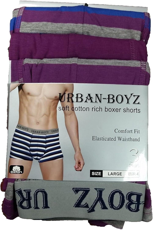 Altro Mens Designer Stripe 3 o 2 Pack Boxer Stretch Boxer Boxer Trunks S M L XL
