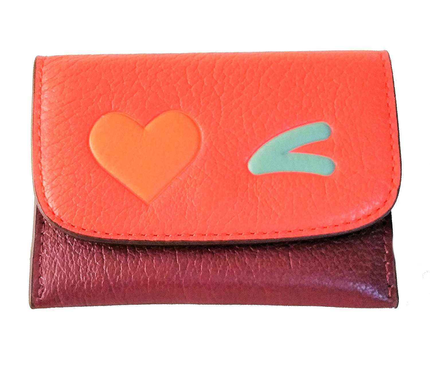 Coach Heart Slim Card Case Pouch Glovetanned Leather