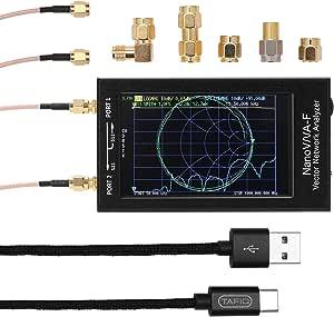 NanoVNA-F Analizador de red de vector portátil de mano ...