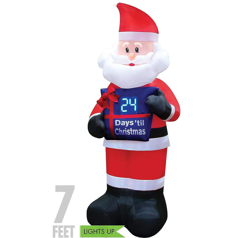 Christmas Inflatable.Christmas Inflatable 7 Countdown Santa Airblown Decoration
