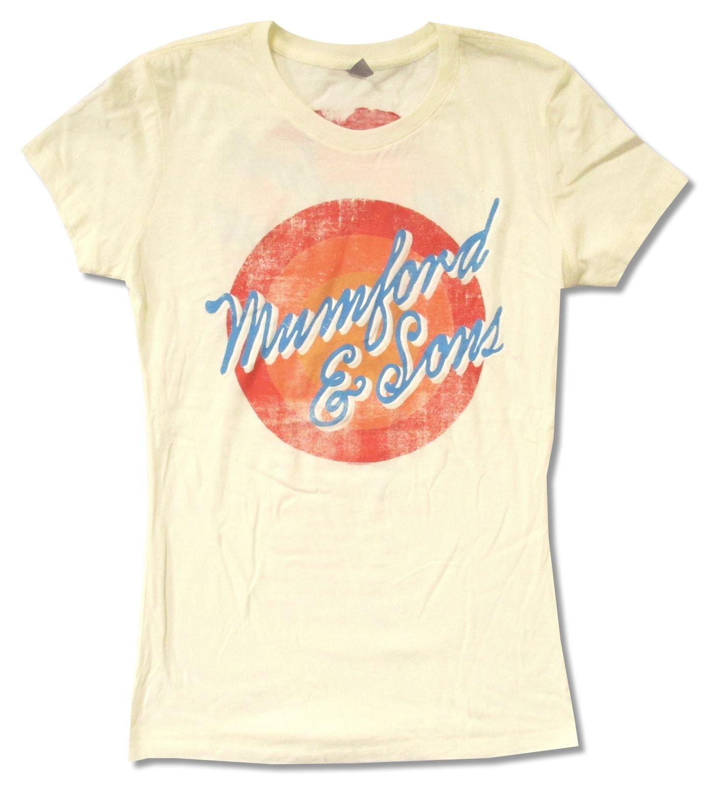 Mum Sons Sun Script Tour 2012 Cream Baby Doll T Shirt 2065