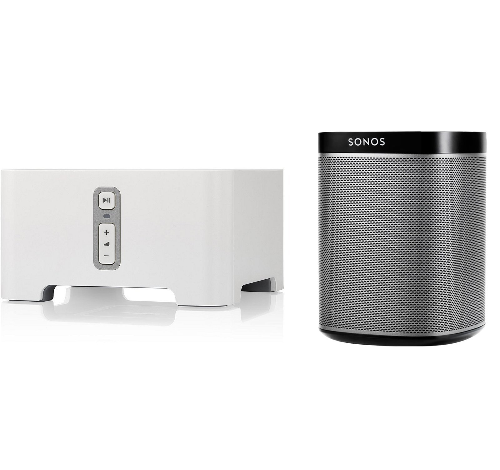 Sonos CONNECT Wireless Receiver for Streaming Music Bundle & Sonos PLAY:1 Wireless Speaker, Single - Black by Sonos