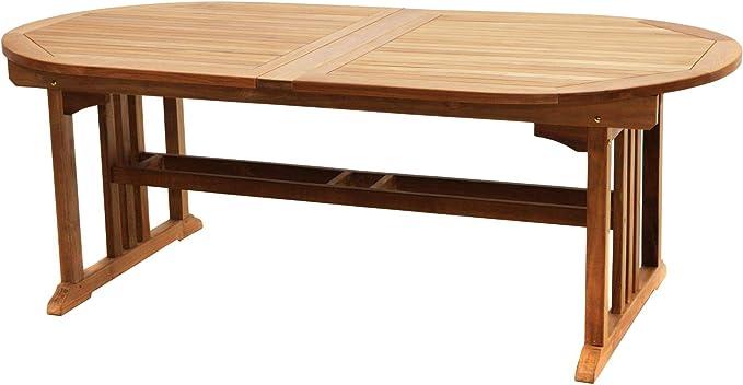 Mesa de jardín extensible Louis 150 (210) x 100 x 75 cm, exterior ...