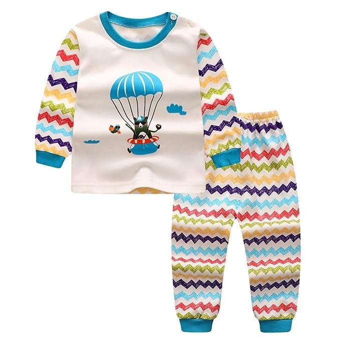 Yannerr 2PCS Bebé niña niño Dibujos Blanco Globo Impresión Inferior camiseta tops+pantalones Conjunto,