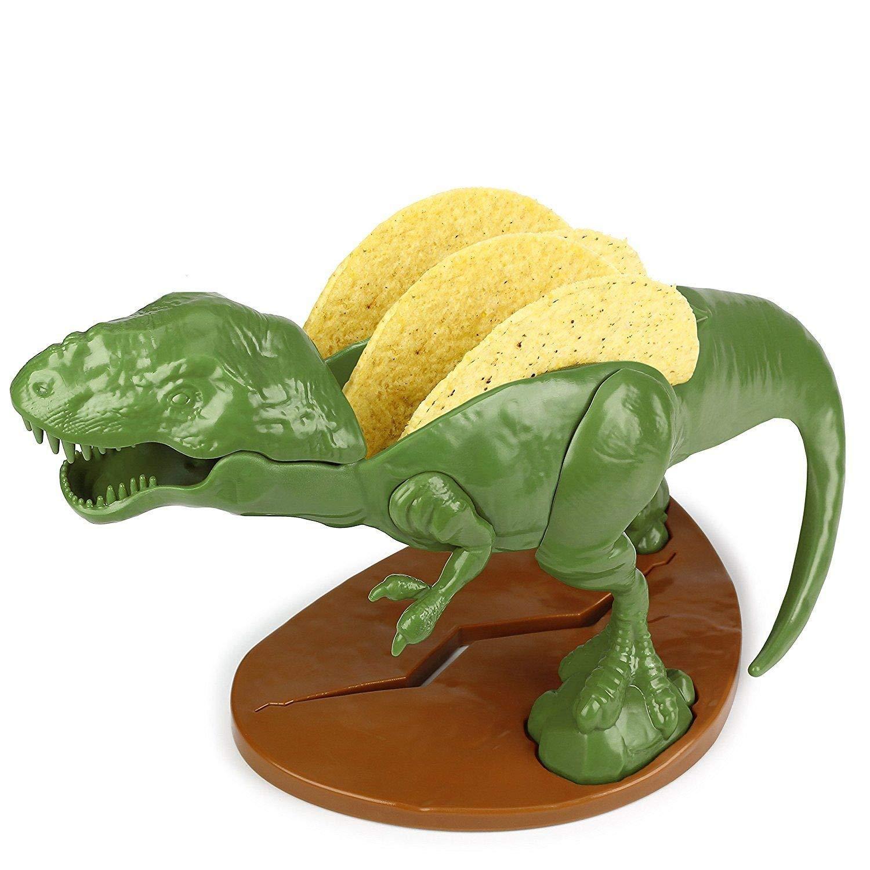 TM Miracle Store Kitchen Ware Party Tabletop Funny Cartoon Dinosaur Tyrannosaurus Rex Taco Cracker Server Holder
