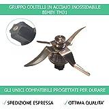 Gruppo Coltelli TM31 con Guarnizione Bimby Contempora Compatibile per TM31 - Garanzia 24 Mesi Figevida Ufficiale