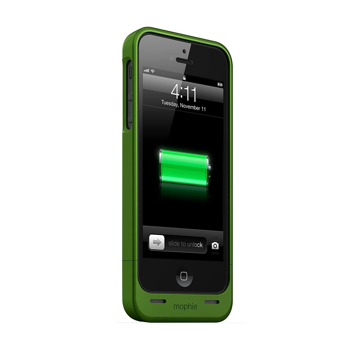 55ef654ab Amazon.com: mophie juice pack Helium for iPhone 5/5s/5se (1,500mAh) - Green  - JPH-IP5-GRN: Cell Phones & Accessories